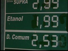 Diferença de preços entre postos de combustíveis chama a atenção - Motorista já deve ter percebido que o litro do álcool está mais barato.