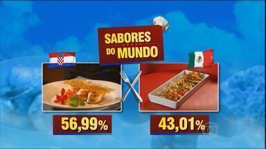 Prato da Croácia vence o do México no Sabores do Mundo - Receita vencedora foi um frango de leite com recheio de farofa de pão e doce de marmelo.