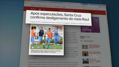 Santa Cruz confirma desligamento do meia Raul - O jogador, que foi campeão pernambucano e da série C pelo tricolor em 2013, teve contrato rescindido.