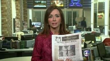 Jornais internacionais fazem cobertura sobre o Brasil - Nos EUA, o The Wall Street Journal traz uma foto na capa mostrando um treino feito por bombeiros e policiais em Brasília para enfrentar uma situação de contaminação química. O New York Times traz também na capa uma reportagem sobre protestos.