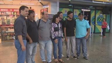 Equipe de profissionais da TV Rondônia embarcam para Manaus - Os profissionais farão a cobertura da Copa do Mundo, que inicia nesta quinta-feira (12).
