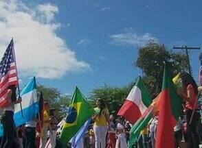 Seleções da Copa do Mundo são retratadas por estudantes de Altinho, no Agreste de PE - Evento ocorreu na Escola Francisco Joaquim de Barros Correia.