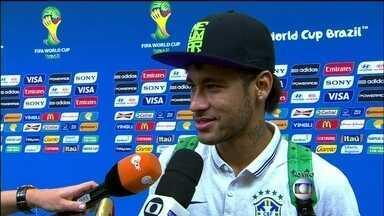 Neymar comenta vitória da Seleção no jogo de abertura da Copa - O jogador Neymar comenta a vitória da Seleção no jogo de abertura da Copa. O Brasil venceu a Croácia de virada em jogo com gol contra e pênalti polêmico.