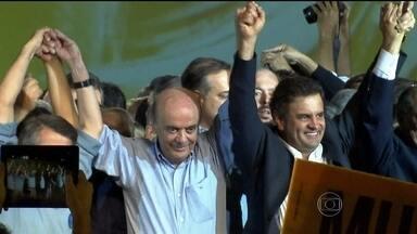 PSDB oficializa Aécio Neves como candidato à Presidência - A convenção nacional do PSDB aconteceu neste sábado (14), em São Paulo. Aécio Neves foi oficializado como o candidato do partido para concorrer à Presidência da república.
