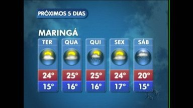 Céu aberto nessa terça-feira na região de Maringá - Na quinta-feira tem previsão de chuva na cidade