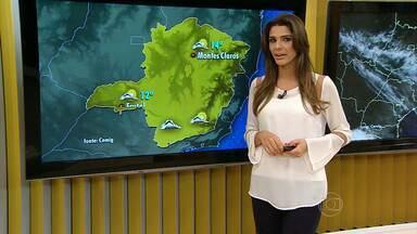 Primeira semana do inverno promote ter madrugadas geladas em Minas - As imagens de satélite mostram que uma frente fria passa pelo litoral do Sudeste.