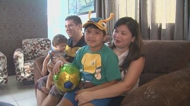 Garoto selecionado para entrar em campo durante Copa no AM fala sobre expectativa - Menino de 6 anos foi escolhido por meio de concurso.