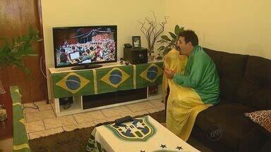 Superstição move torcedor de Ribeirão Preto para assistir jogo do Brasil - Superstição move torcedor de Ribeirão Preto para assistir jogo do Brasil