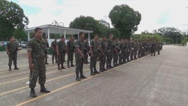 Presença das Forças Armadas é intensificada na fronteira do Amazonas - Prazo do apoio prestado pela FNSP poderá ser prorrogado, se necessário.Equipes vão atuar municípios de faixa de fronteira do Estado.