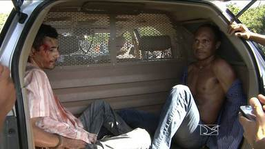 Presos em Caxias, dois homens suspeitos de tentarem assaltar a agência do banco Santander - Na fuga, a dupla fez três funcionários de reféns e acabaram sendo interceptados na BR-316.