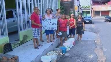 Moradores do Amazonino Mendes, em Manaus, criticam falta de água - Problema em adutora afetou abastecimento na cidade.