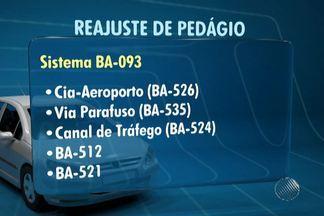 Tarifas de pedágio da BA-099, Litoral Norte da Bahia, vão aumentar - Novos valores começam a valer na quinta-feira (17).