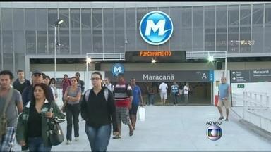 Trens e metrô circulam normalmente pela cidade - Supervia informou que os trens circulam dentro dos horários previstos. No metrô, a circulação também é normal.