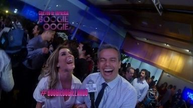 Deborah Secco mostra como está #boogieoogiezando - Vídeo Show acompanha coletiva de imprensa de Boogie Oogie