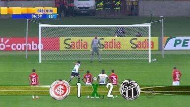 Esporte: Internacional sofre primeira derrota no novo Beira-Rio - Equipe colorada perdeu de 2x1 para o Ceará na Copa do Brasil.