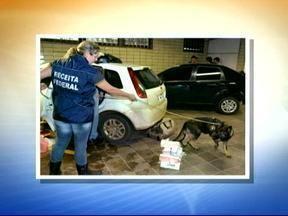 Receita Federal apreende 20 quilos de cocaína em Tabaí, RS - A droga estava nos tanques de gasolina de dois automóveis que seguiam em direção a Porto Alegre.