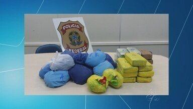 Polícia apreendem mais de 35 kg de droga em carro, no AM - Droga estava em empresa de leilão; carro foi retido por falta de pagamento.