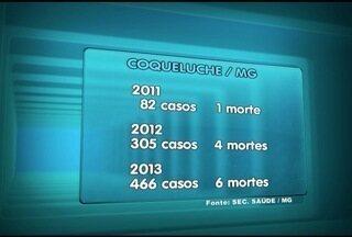 Coqueluche preocupa pelo alto índice de casos da doença - Em 2011 foram 82 casos, em 2012 foram 305 e em 2013 foram registrados 466 casos.