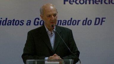 José Roberto Arruda encontra empresários na Fecomércio durante campanha - O candidato José Roberto Arruda encontrou empresários na Fecomércio durante o dia de campanha.