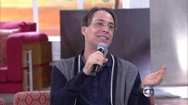 Humor Matinal: Pedro Cardoso diz que não pode ser incomodado - Graziella Moretto comenta humor do marido