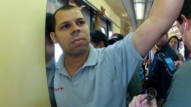 Homens são flagrados em vagões exclusivos para mulheres - A equipe de reportagem do RJTV flagrou homens dentro dos vagões exclusivos para mulheres.