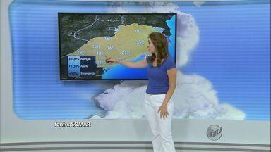 Confira a previsão do tempo para a região de São Carlos nesta terça-feira (12) - Confira a previsão do tempo para a região de São Carlos nesta terça-feira (12)