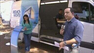 Redação Móvel escuta moradores de bairros de Ribeirão Preto - Equipe escuta sugestões e problemas de moradores dos Campos Elíseos.