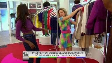 Bianca Bin confere o que está a venda na loja de sua personagem - Atriz mostra o estilo da badalada boutique Spice de Boogie Oogie