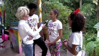 Lorena, Daniel e Cinthia foram treinadas por equipe do Canadá para pular corda - Trio conversa com Ana e dá uma demonstração no Mais Você