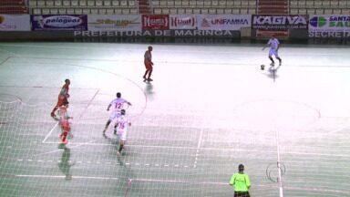 Futsal de Guarapuava vence o Maringá no norte do estado - O jogo válido pela segunda fase do Campeonato Paranaense foi ontem à noite e terminou com placar de três a um.