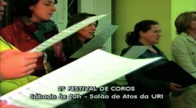 Agenda: Festival de Coros acontece em Erechim, RS - Grupos gaúchos e catarinenses participam.