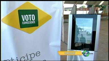 Veja como votar no último dia da urna da campanha Voto Consciente em Paranavaí - A partir de segunda-feira a nossa urna eletrônica vai estar em Cianorte.