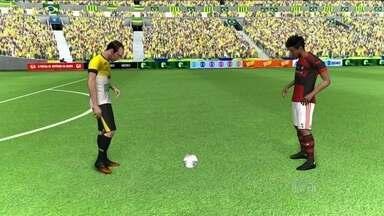 Flamengo e Criciúma se enfrentam no duelo dos experientes Léo Moura e Paulo Baier - Partida será disputada no Heriberto Hulse.