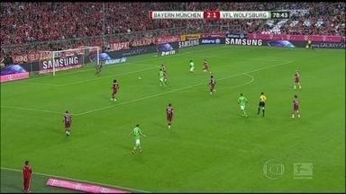 Bayern de Munique vence por 2 a 1 o Wolfsburg pelo Campeonato Alemão - O primeiro gol foi marcado aos 36 minutos e aos 45 minutos Wolfs marca 1 a 1, mas o time de Munique leva a melhor.