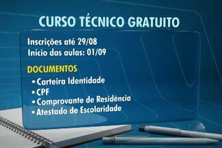Abertas inscrições para cursos técnicos de graça - Oportunidade é para quem já concluiu o Ensino Fundamental. São 4.535 vagas pasa Salvador e outras cinco cidades.