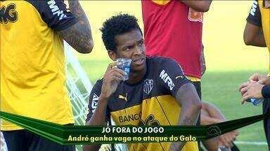 Jô perde titularidade no ataque no Atlético-MG - Jogador não marca gols há 13 jogos.