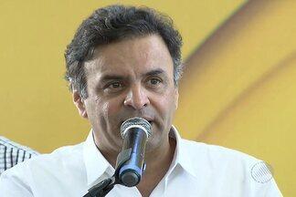 Candidato à Presidência da República, Aécio Neves, lança programa em Salvador - Ele esteve na capital baiana neste sábado (23).