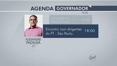 Confira a agenda dos candidatos ao governo de SP nesta sexta (5) - Veja os compromissos de campanha do dia de Paulo Skaf (PMDB), Geraldo Alckmin (PSDB) e Alexandre Padilha (PT).