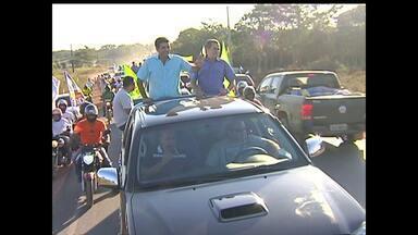 Candidato ao governo do Pará cumpre agenda de campanha em Santarém - Helder Barbalho esteve acompanhado do candidato a vice, Lira Maia.