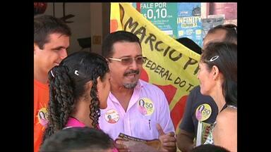 Candidato ao governo do Pará faz campanha em Santarém - Candidato do PSOL visitou bairro Livramento.