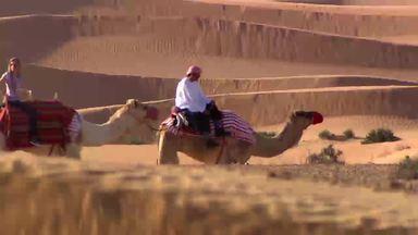 Como Será? embarca em um safari no deserto de Dubai - Programa visita de um safari no deserto onde os turistas podem praticar esportes radicais, conhecer os animais da região, observar paisagens de tirar o fôlego e mergulhar nas tradições dos emirados árabes