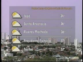 Final de semana será de sol e calor no Oeste Paulista - Confira como ficam os termômetros nas cidades da região.