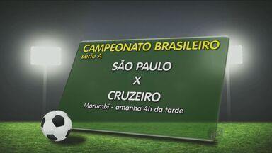 São Paulo recebe o Cruzeiro pela 21ª rodada do Campeonato Brasileiro - Neste sábado (13), o Fluminense recebe o Palmeiras no Maracanã, a Chapecoense joga contra o Sport na Arena Condá e o Santos joga contra o Coritiba na Vila Belmiro. Entre os jogos deste domingo (14), os dois melhores times do campeonato, Cruzeiro e São Paulo, se enfrentam no Morumbi.