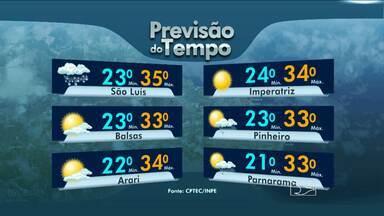 Confira a previsão do tempo - Sábado de sol forte em quase todo o Maranhão.