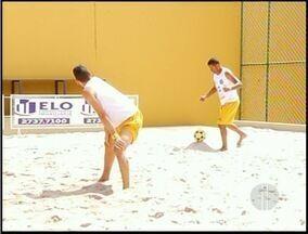 Campeonato de futevolei aconteceu hoje em Campos, no RJ - O evento foi no Sesi de Campos.