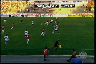 O Santa Cruz enfrentou o Paraná fora de casa hoje à tarde - O placar ficou em 3 a 2 para o Paraná