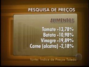 Pesquisa de preços aponta inflação em Presidente Prudente - Aumento foi de 0,41% na cesta básica.