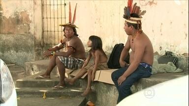 Índios pedem melhorias na saúde no Maranhão - Índios da etnia Caapó ocuparam a sede da Secretaria Especial de Saúde Indígena, no Maranhão. Eles querem melhorias no atendimento das aldeias.