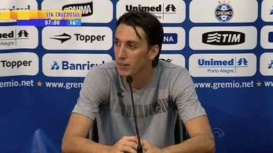 Futebol: Geromel comenta a defesa do time - Zagueiro acredita que o tricolor pode levar um gol e treina para isso.