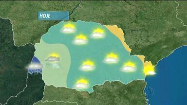 Previsão do tempo - Chove hoje no oeste do estado.